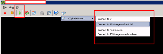Windows 2008 R2 64bit Virtual Machine - Connect to ISO image on Local Disk